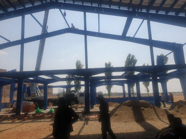 ساخت و نصب سالن ورزشی شهرداری باغستان واقع در نصیر آباد شهریار